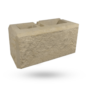 Wilson Masonry | Newcastle & Hunter Stone Masonry Specialists | Retaining Wall Corner Block - Ivory